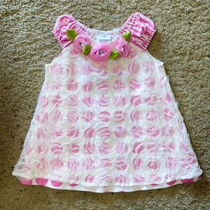 Baby's 18m Tulle Flowers Dots & Striped Dress